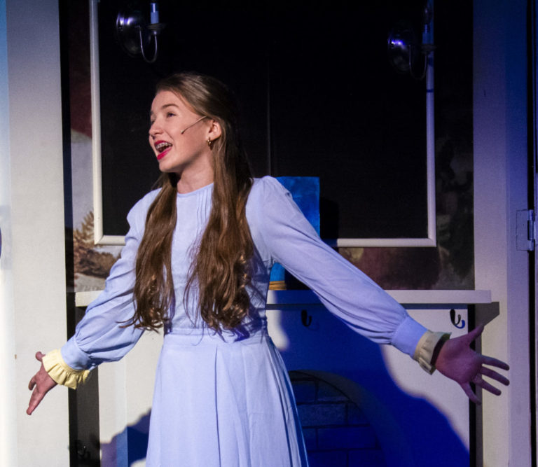 Sloane Escobar as Winifred Banks in Mary Poppins